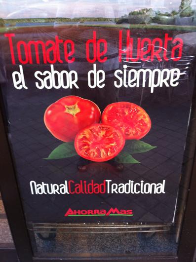 Los tomates de la huerta de Ahorramás. Según los sellos de algunos, llegan desde País vasco y Valencia