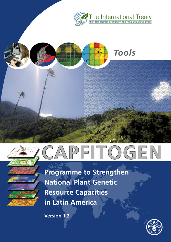 Cover of the new user's manual of the CAPFITOGEN tools version 1.2
