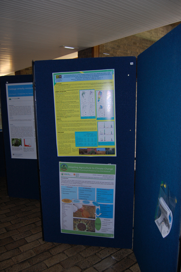 Poster session. With argentinian colleagues we have presented an efficient collecting study on native forage species