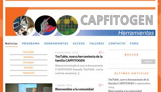 Apariencia del nuevo sitio web de los usuarios de CAPFITOGEN en español